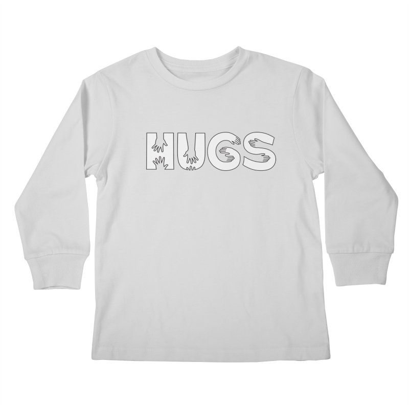 HUGS (B&W) Kids Longsleeve T-Shirt by Hi Hello Greetings