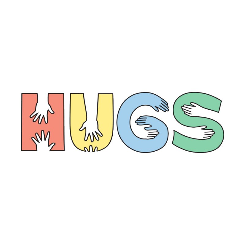 HUGS (Color) Men's Sweatshirt by Hi Hello Greetings