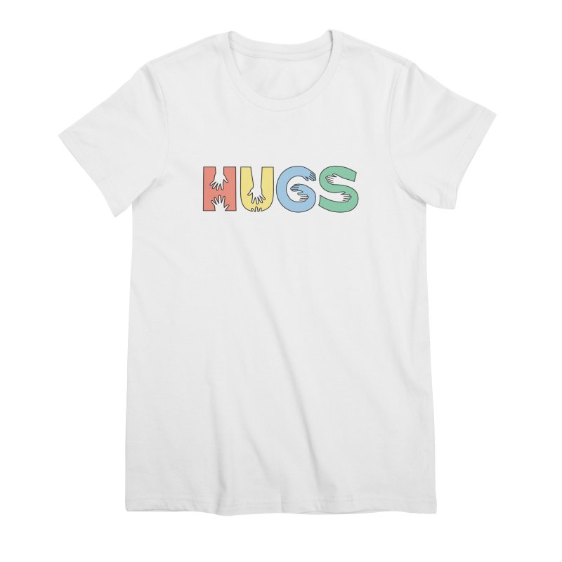 HUGS (Color) Women's Premium T-Shirt by Hi Hello Greetings