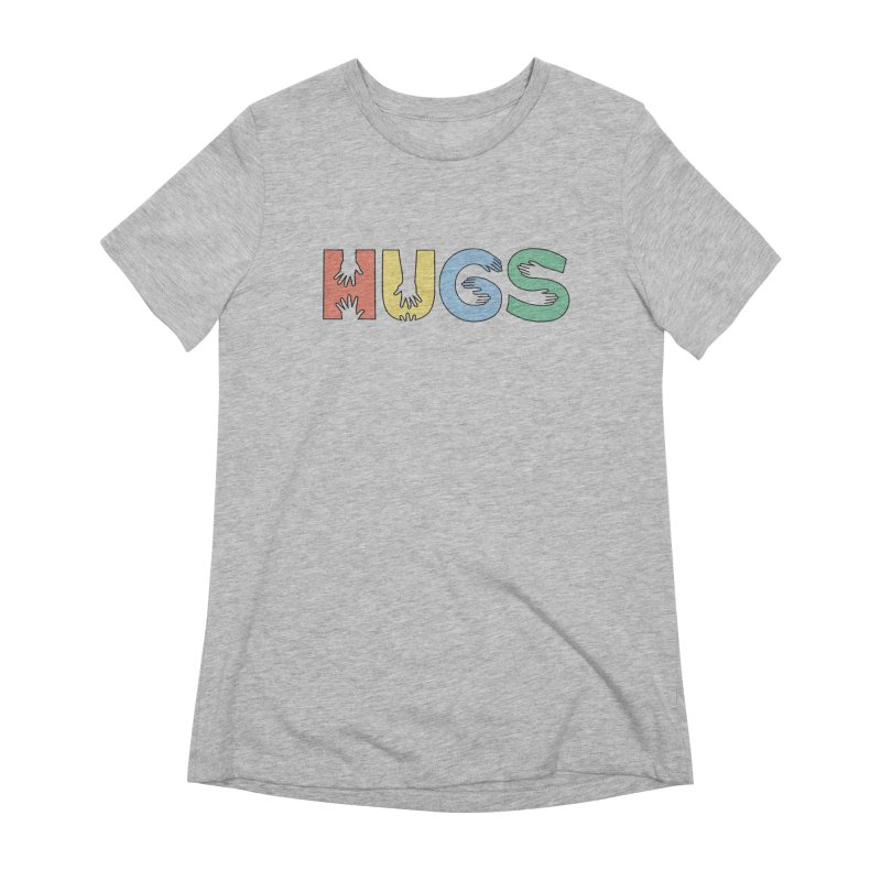 HUGS (Color) Women's Extra Soft T-Shirt by Hi Hello Greetings
