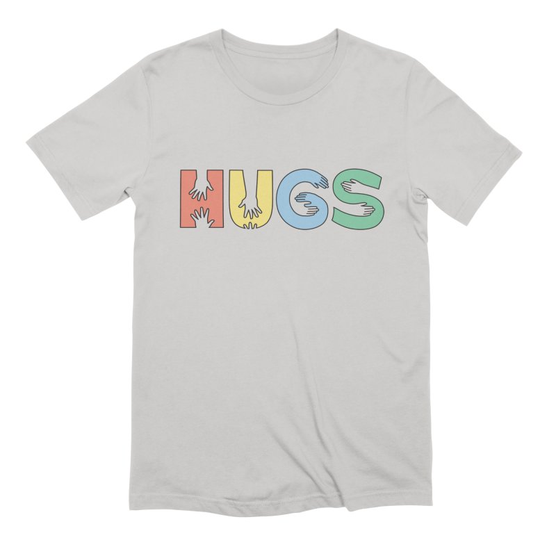 HUGS (Color) Men's Extra Soft T-Shirt by Hi Hello Greetings
