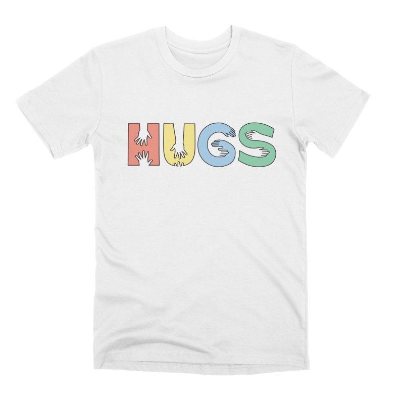 HUGS (Color) Men's Premium T-Shirt by Hi Hello Greetings