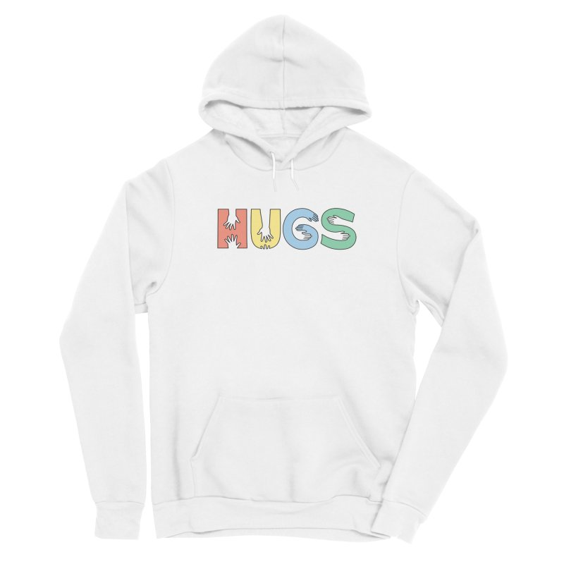 HUGS (Color) Men's Sponge Fleece Pullover Hoody by Hi Hello Greetings