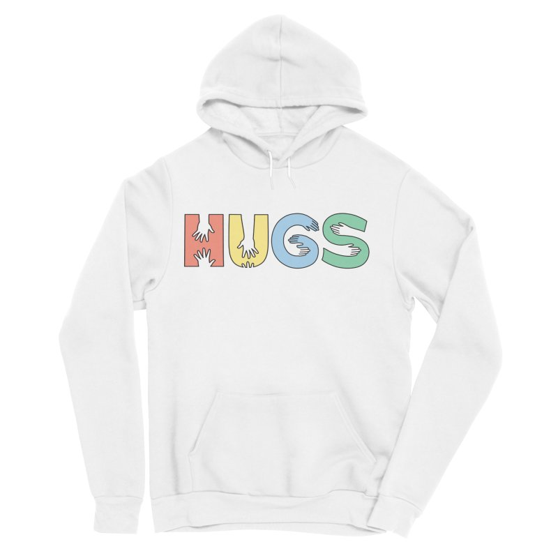 HUGS (Color) Women's Sponge Fleece Pullover Hoody by Hi Hello Greetings