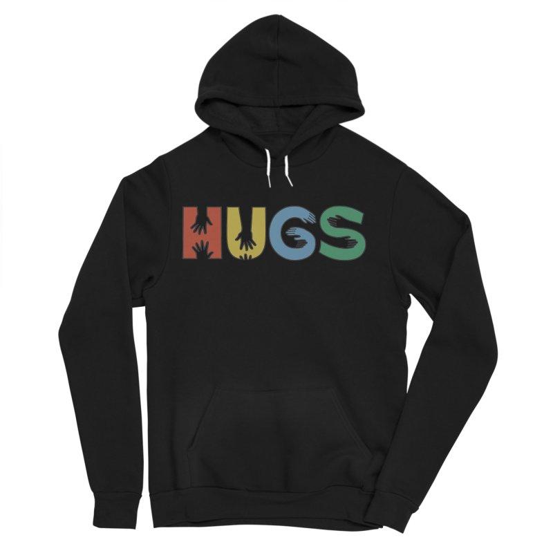 HUGS (Color) Men's Sponge Fleece Pullover Hoody by Hi Hello Greetings