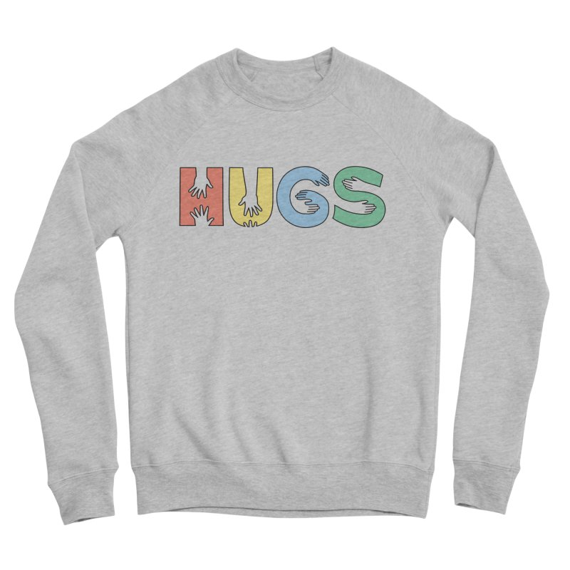 HUGS (Color) Men's Sponge Fleece Sweatshirt by Hi Hello Greetings