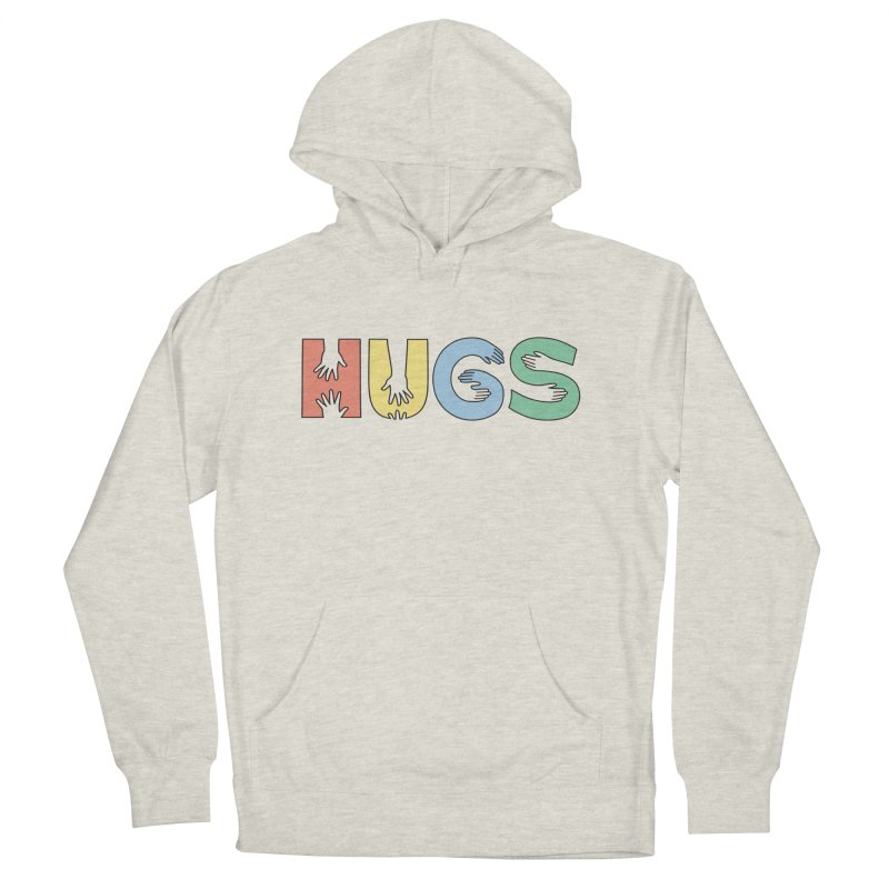HUGS (Color) Men's Pullover Hoody by Hi Hello Greetings