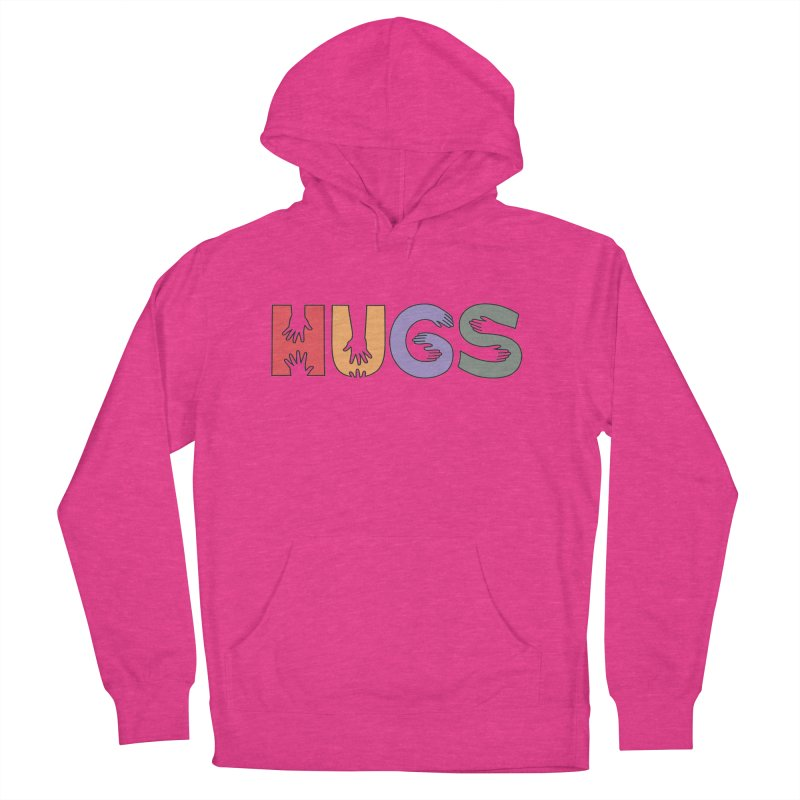 HUGS (Color) Women's Pullover Hoody by Hi Hello Greetings