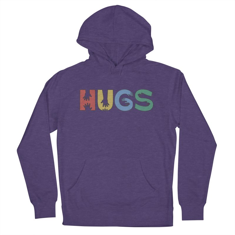 HUGS (Color) Men's French Terry Pullover Hoody by Hi Hello Greetings