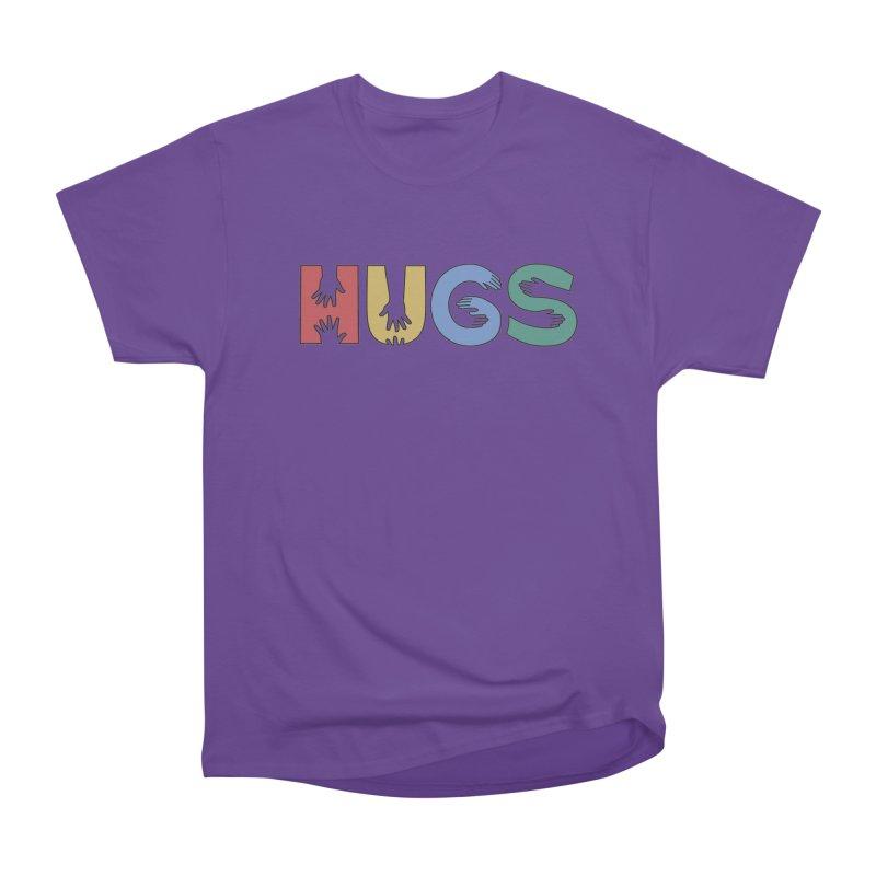 HUGS (Color) Men's Heavyweight T-Shirt by Hi Hello Greetings