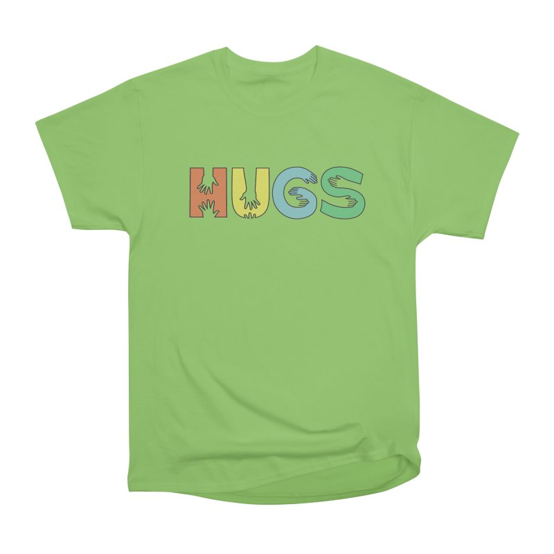 HUGS (Color) Men's Heavyweight T-Shirt by Hi Hello Greetings