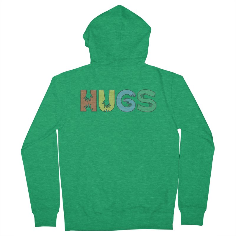 HUGS (Color) Women's French Terry Zip-Up Hoody by Hi Hello Greetings