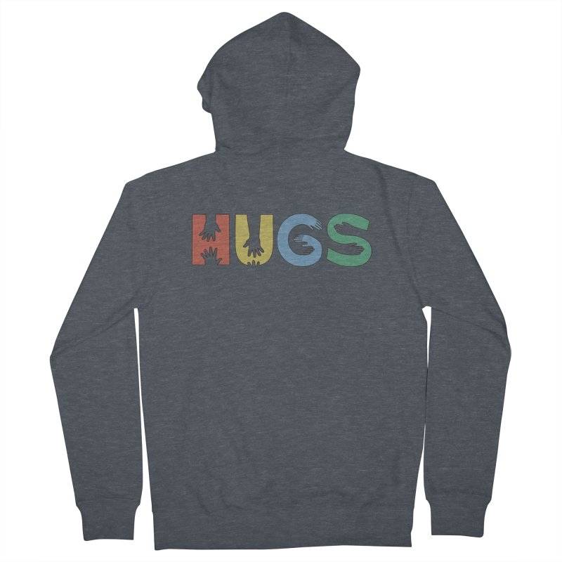 HUGS (Color) Men's Zip-Up Hoody by Hi Hello Greetings