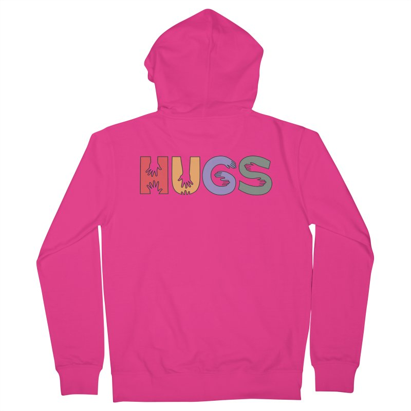 HUGS (Color) Men's French Terry Zip-Up Hoody by Hi Hello Greetings