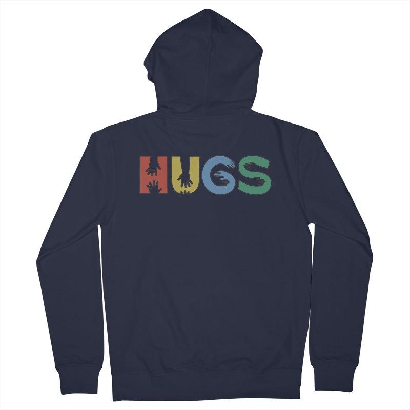 HUGS (Color) Men's Zip-Up Hoody by Hi Hello Greetings