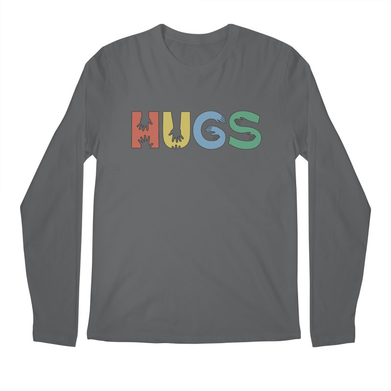 HUGS (Color) Men's Longsleeve T-Shirt by Hi Hello Greetings