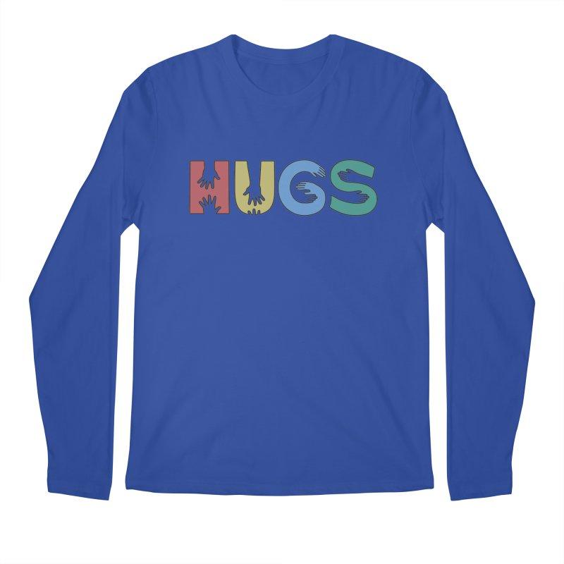 HUGS (Color) Men's Regular Longsleeve T-Shirt by Hi Hello Greetings
