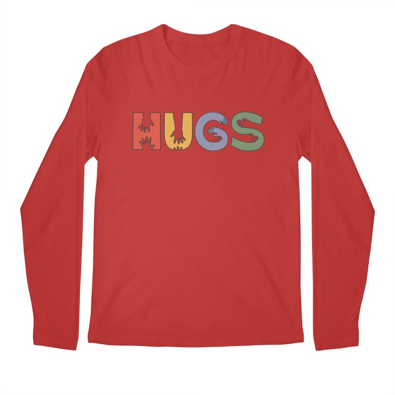 HUGS (Color) Men's Regular Longsleeve T-Shirt by Hi Hello Greetings