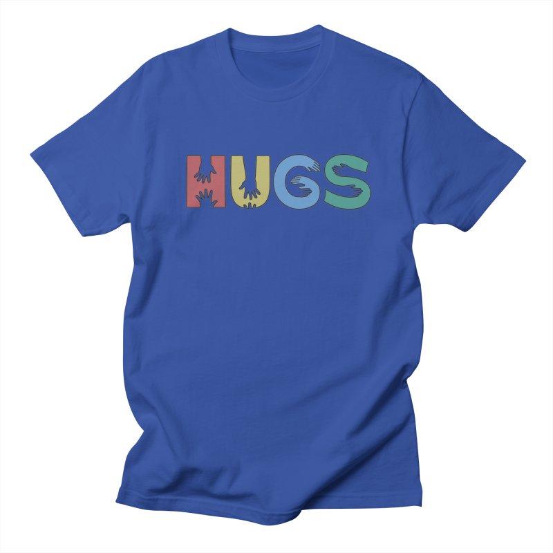 HUGS (Color) Men's Regular T-Shirt by Hi Hello Greetings