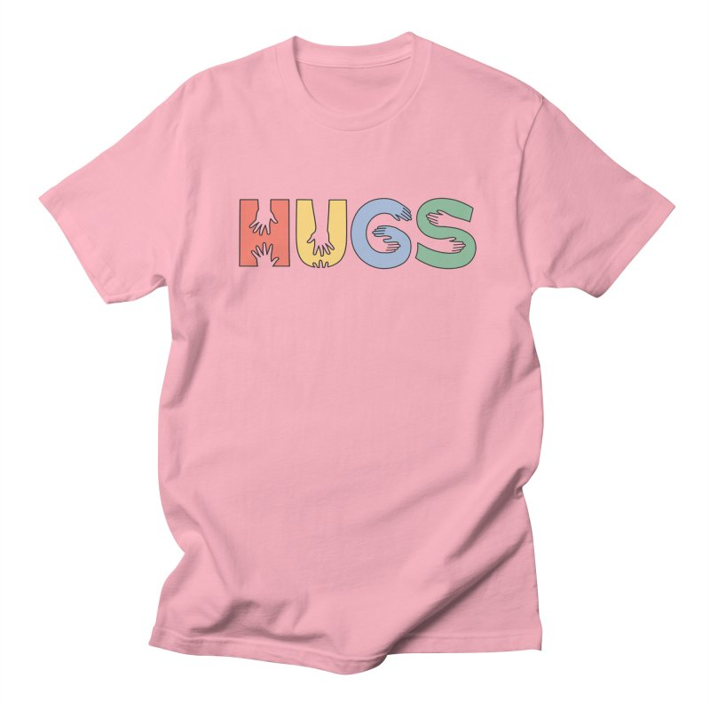 HUGS (Color) Men's Regular T-Shirt by Hi Hello Greetings