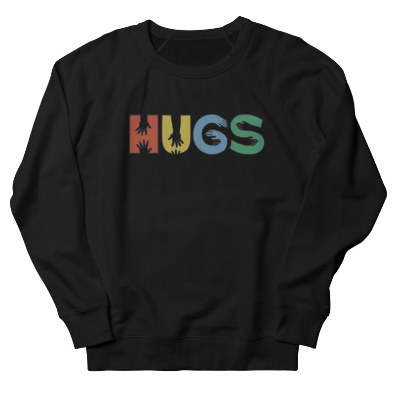 HUGS (Color) Men's French Terry Sweatshirt by Hi Hello Greetings