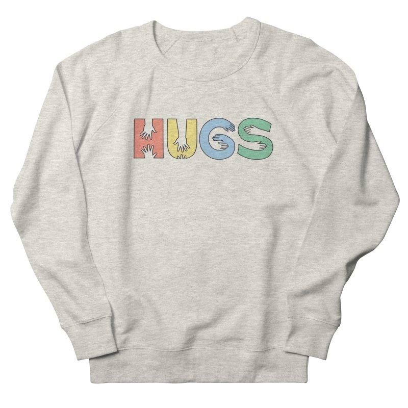 HUGS (Color) Men's French Terry Sweatshirt by Hi Hello Greetings
