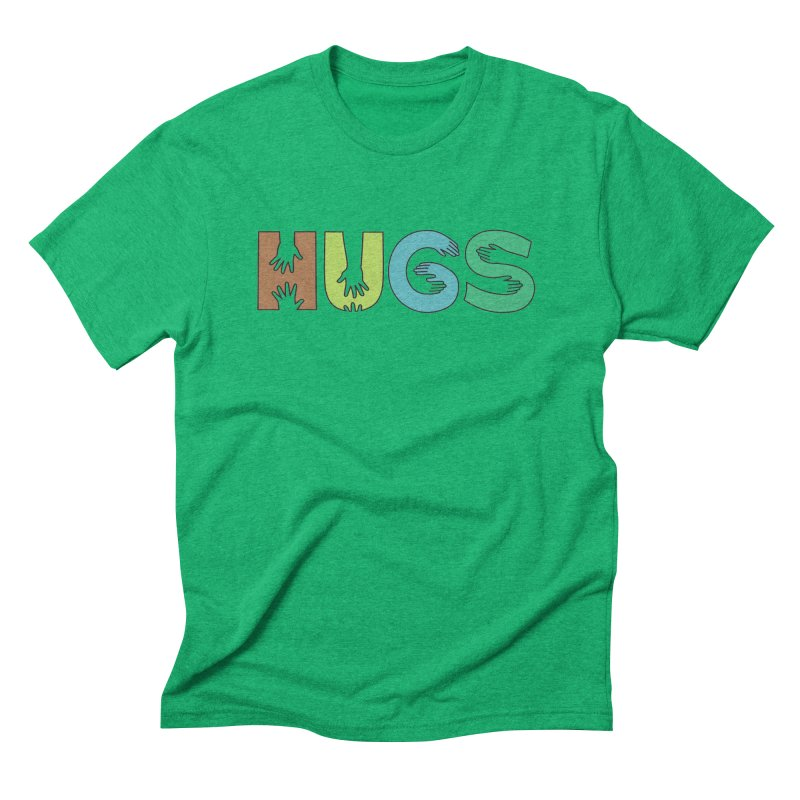 HUGS (Color) Men's Triblend T-Shirt by Hi Hello Greetings