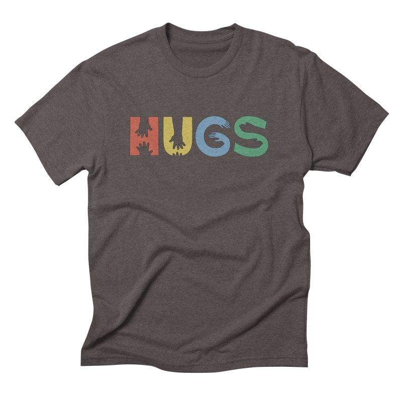 HUGS (Color) Men's Triblend T-Shirt by Hi Hello Greetings