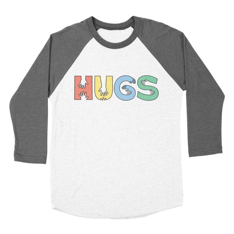 HUGS (Color) Women's Baseball Triblend T-Shirt by Hi Hello Greetings