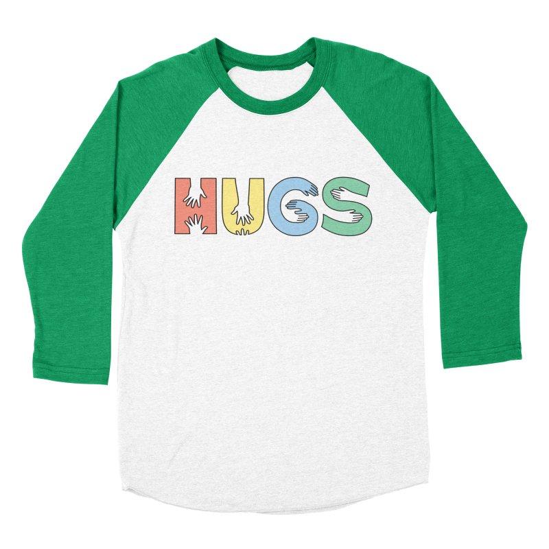 HUGS (Color) Women's Baseball Triblend T-Shirt by Hi Hello Greetings