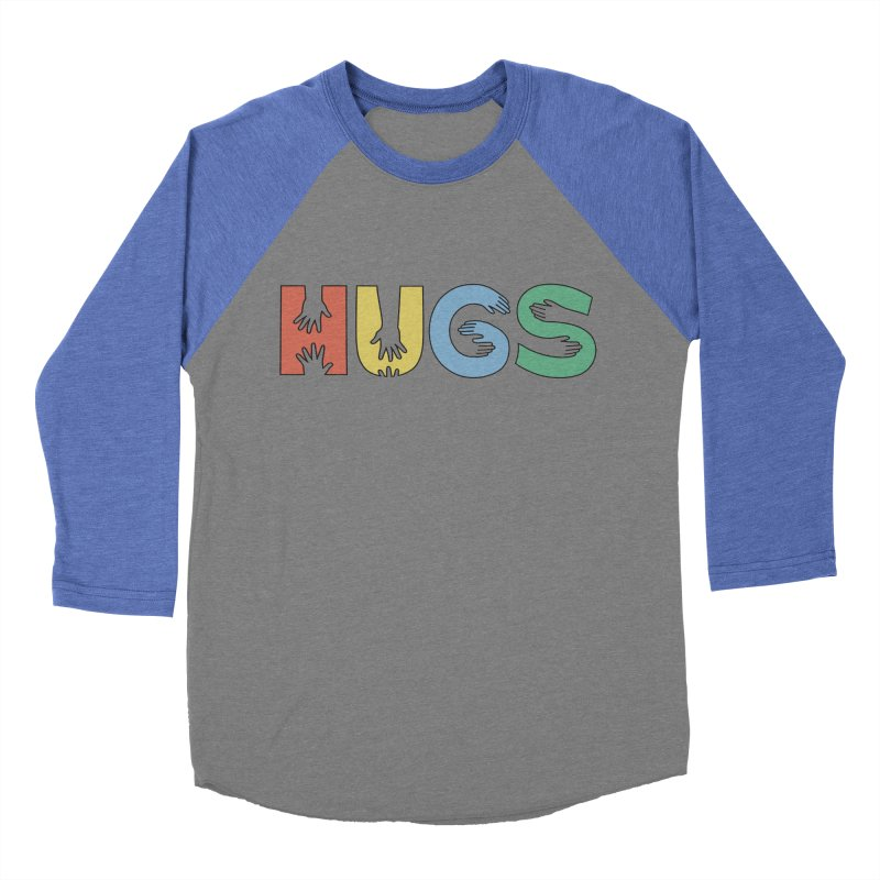 HUGS (Color) Women's Baseball Triblend Longsleeve T-Shirt by Hi Hello Greetings