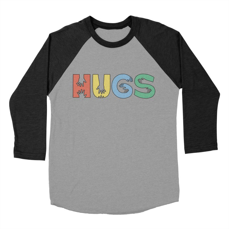 HUGS (Color) Men's Baseball Triblend Longsleeve T-Shirt by Hi Hello Greetings