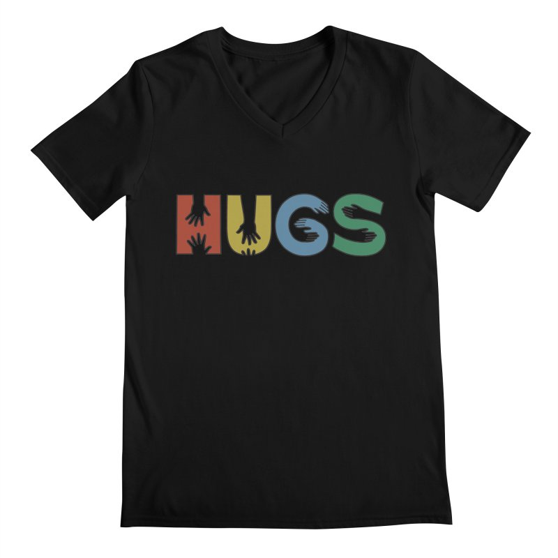 HUGS (Color) Men's V-Neck by Hi Hello Greetings