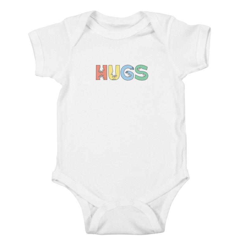 HUGS (Color) Kids Baby Bodysuit by Hi Hello Greetings