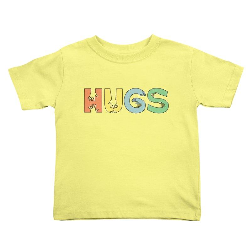 HUGS (Color) Kids Toddler T-Shirt by Hi Hello Greetings