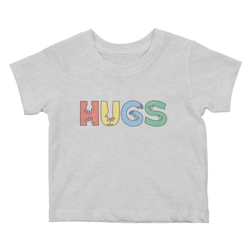 HUGS (Color) Kids Baby T-Shirt by Hi Hello Greetings