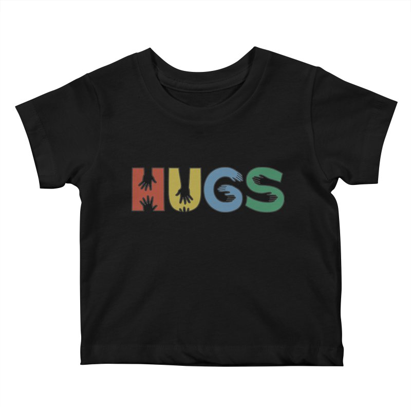 HUGS (Color) Kids Baby T-Shirt by Hi Hello Greetings