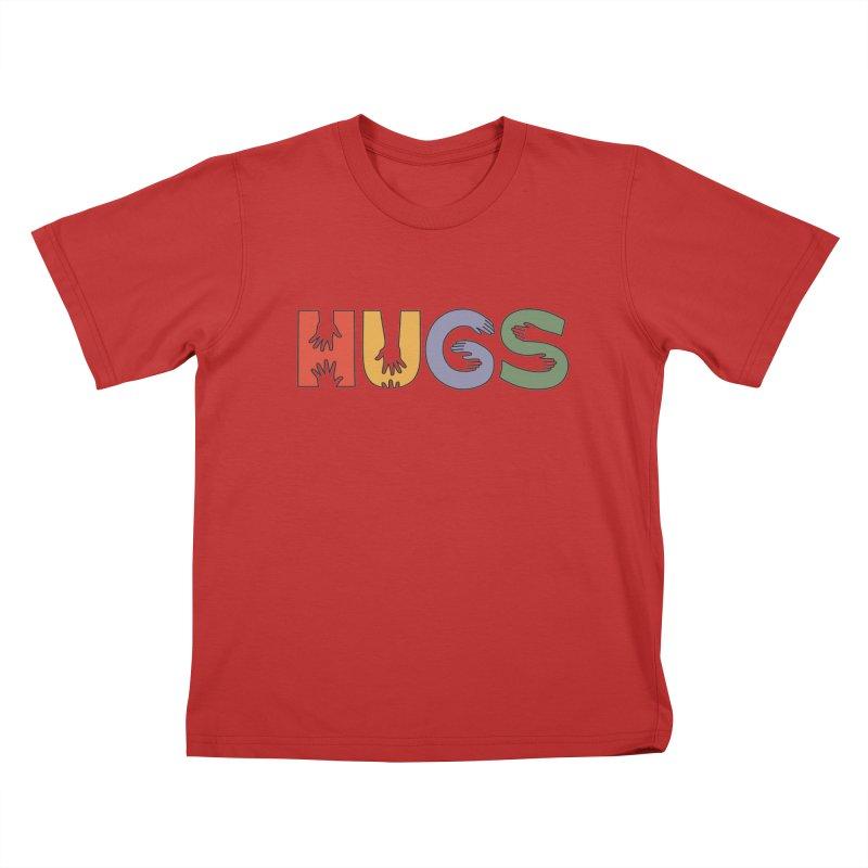 HUGS (Color) Kids T-Shirt by Hi Hello Greetings