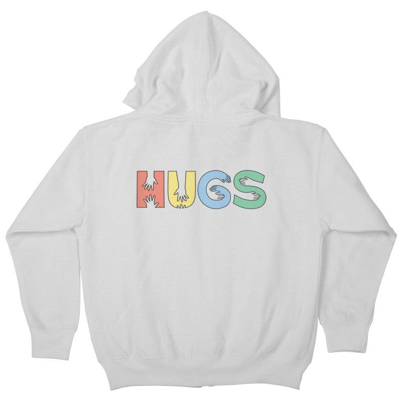 HUGS (Color) Kids Zip-Up Hoody by Hi Hello Greetings