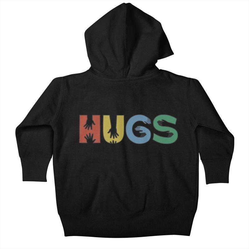 HUGS (Color) Kids Baby Zip-Up Hoody by Hi Hello Greetings