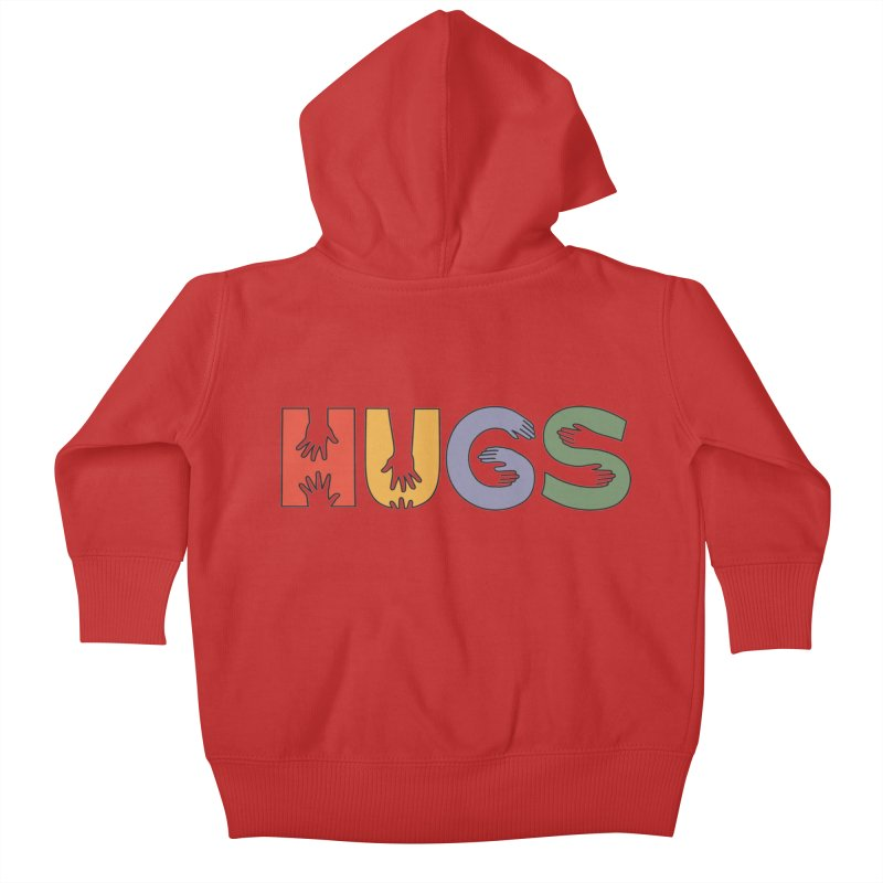 HUGS (Color) Kids Baby Zip-Up Hoody by Hi Hello Greetings