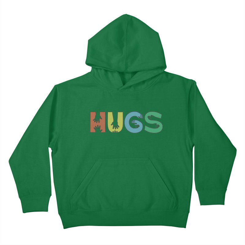 HUGS (Color) Kids Pullover Hoody by Hi Hello Greetings