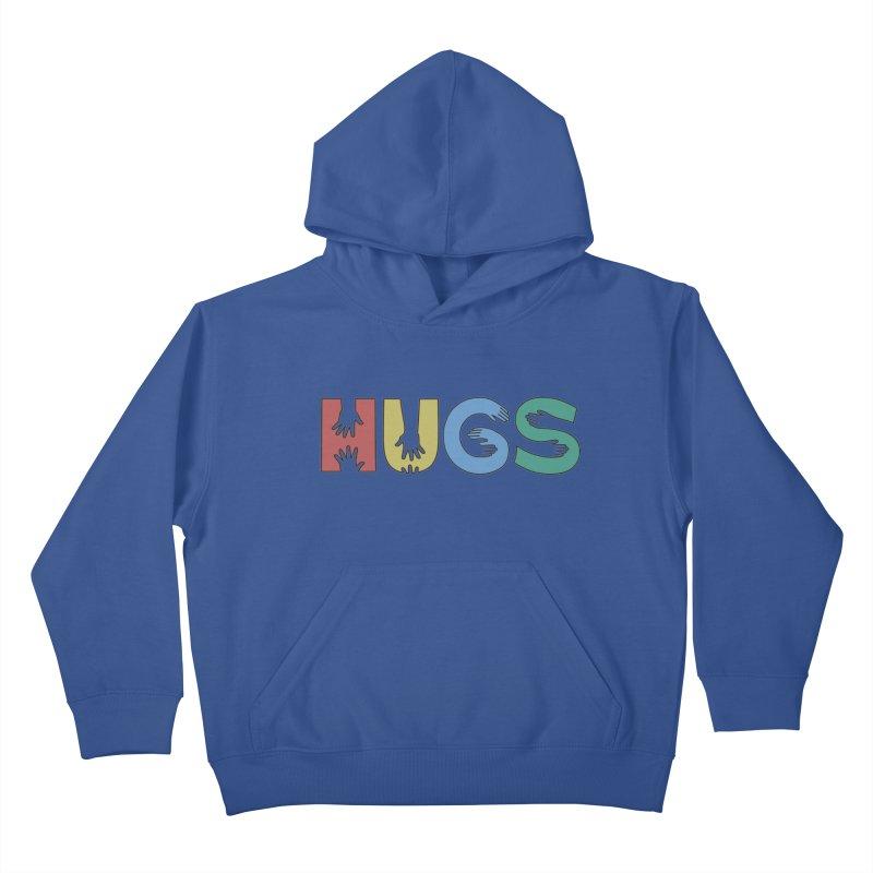 HUGS (Color) Kids Pullover Hoody by Hi Hello Greetings