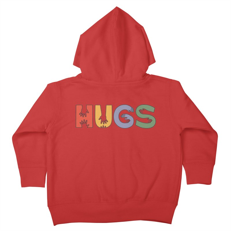 HUGS (Color) Kids Toddler Zip-Up Hoody by Hi Hello Greetings