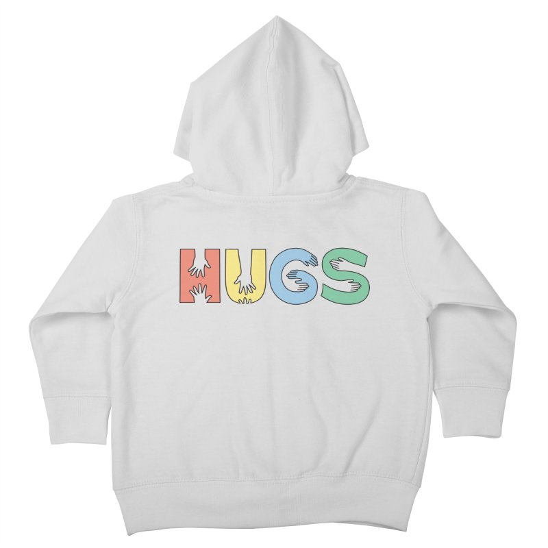 HUGS (Color) Kids Toddler Zip-Up Hoody by Hi Hello Greetings