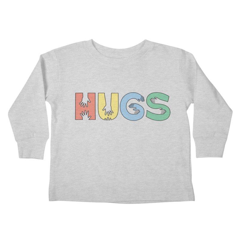HUGS (Color) Kids Toddler Longsleeve T-Shirt by Hi Hello Greetings