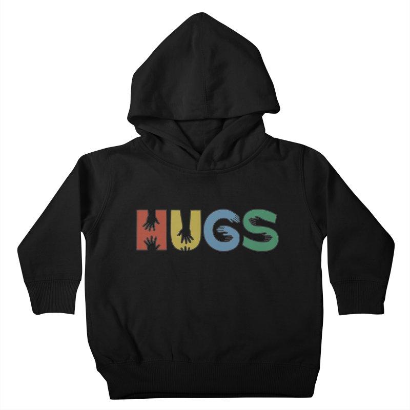 HUGS (Color) Kids Toddler Pullover Hoody by Hi Hello Greetings