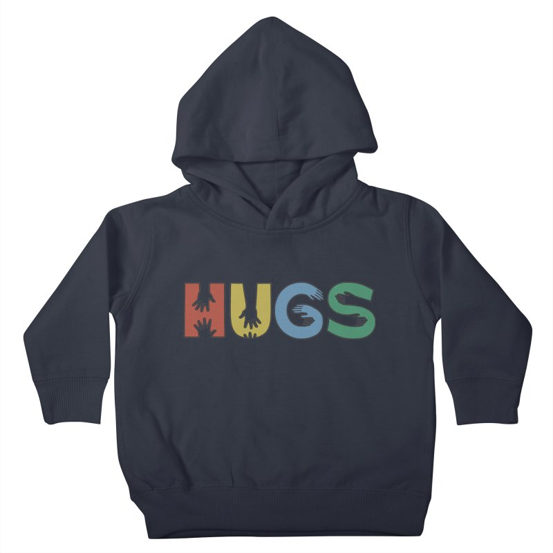 HUGS (Color) Kids Toddler Pullover Hoody by Hi Hello Greetings