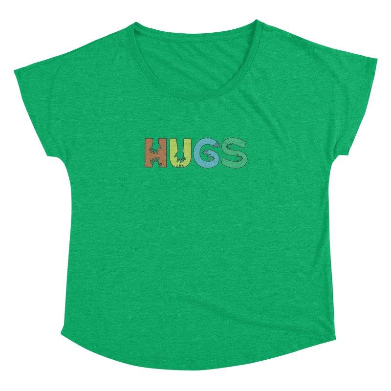 HUGS (Color) Women's Dolman Scoop Neck by Hi Hello Greetings