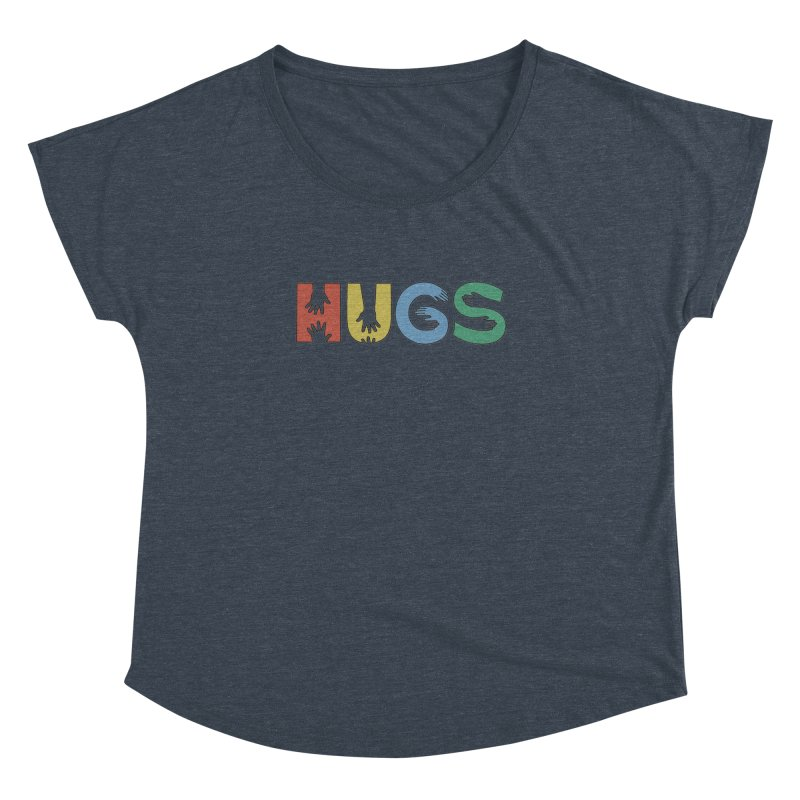HUGS (Color) Women's Dolman Scoop Neck by Hi Hello Greetings